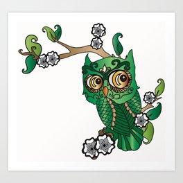 Jaded Owl  Art Print