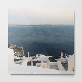Santorini Colour Metal Print