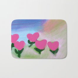 Hearts from a Rose Pink Bath Mat