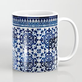 Cobalt Flourish Coffee Mug