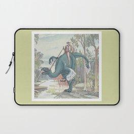 Castiel Pinup on a Dinosaur Laptop Sleeve