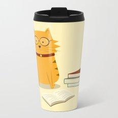 Nerdy Cat Metal Travel Mug