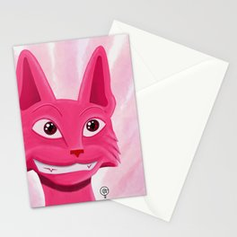 Lollipop the pinky cat Stationery Cards