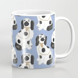 Staffordshire Dog Figurines No. 2 in Dusty French Blue Coffee Mug