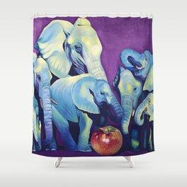 Elephat's Soccer Shower Curtain