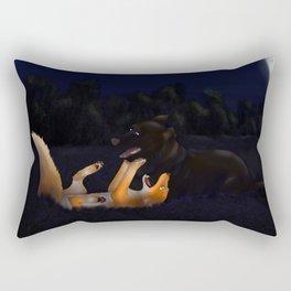Midnight Tumble - The Fox & The Hound Rectangular Pillow