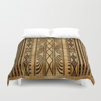 african Duvet Covers featuring African Weave by Robin Curtiss