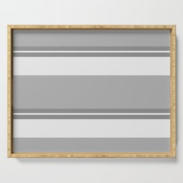 Strips - gray and white. Serving Tray