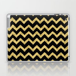 Chevron Black And Gold Laptop & iPad Skin