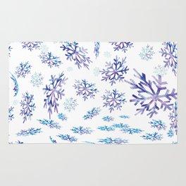Snowflakes falling Rug