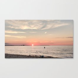 Sunrise Penfield Beach over Seaside Park and Lordship Canvas Print