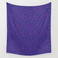 bugs Wall Tapestries featuring Bright Bugs by Eliza Stein