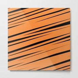 Orange Scribble Metal Print