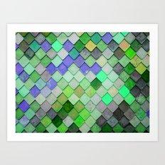 PRETTY - green palette Art Print
