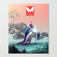 Moth X Canvas Print