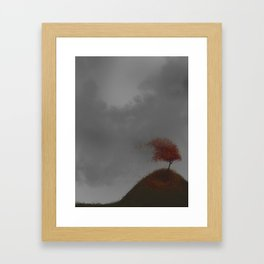 Standing Strong in a Fall Wind Framed Art Print