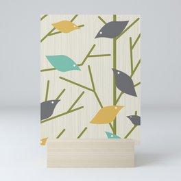 Mid Century Modern Birdsong Mini Art Print