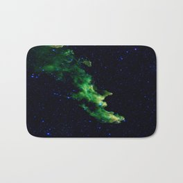 Galaxy: Green Witch's Head Nebula Bath Mat