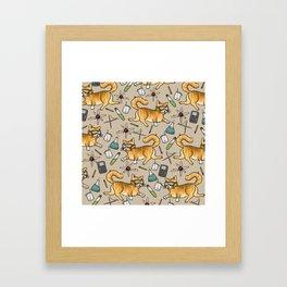STEM Cats Framed Art Print