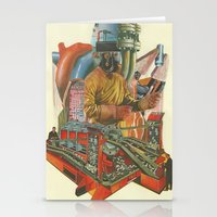 ashton irwin Stationery Cards featuring We penetrated deeper and deeper into the heart of darkness by Nicholas Lockyer