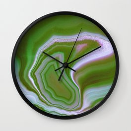 green colored agate Wall Clock