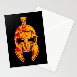 Spartan Helmet - Marked By Battle - Warrior  Stationery Cards