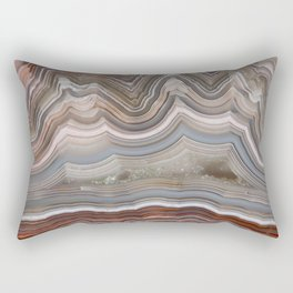 Striped Agate Crystal Rectangular Pillow