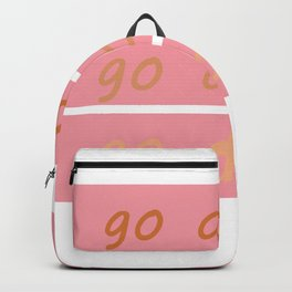 pink go do it Backpack