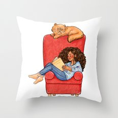 Reading fictional characters: Hermione Throw Pillow