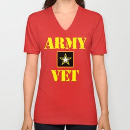 Army Veteran Shirt Unisex V-Neck