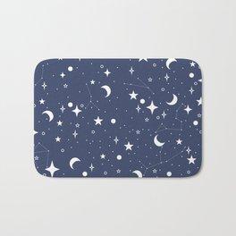 Blue Night Time Sky Bath Mat