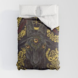 Black Goat of the Woods Comforters