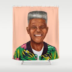 Hipstory - Nelson Mandela Shower Curtain