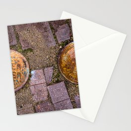 Water Meter Caps, from my street photography collection Stationery Cards