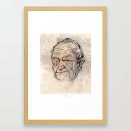 Andrew Wyeth Portrait Framed Art Print