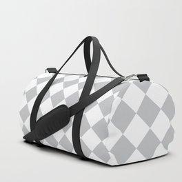 Light Grey Diamond Pattern Duffle Bag