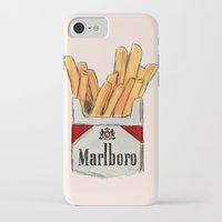 fries iPhone & iPod Cases featuring Fries by Sara Eshak