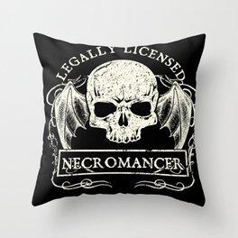 Legally Licensed Necromancer Throw Pillow