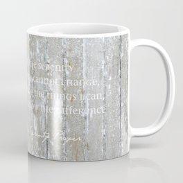 Serenity Prayer: White on Beige Coffee Mug