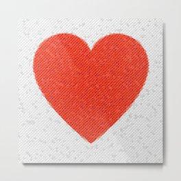 Heart Mosaic Octagons Metal Print