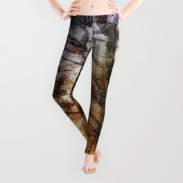 Pastel Sunset Trees Leggings