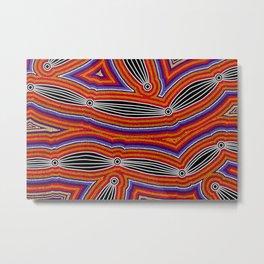 Authentic Aboriginal Art - Neurum Creek Bush Tracks Metal Print