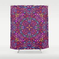kaleidoscope Shower Curtains featuring Kaleidoscope by David Zydd