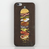 burger iPhone & iPod Skins featuring Burger by Duke.Doks