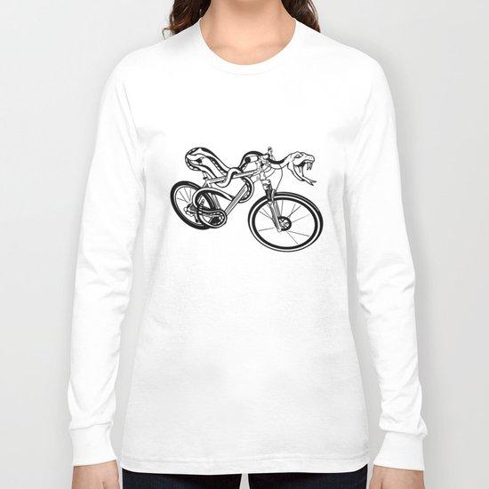 Snake Riding  A Mountain Bike Long Sleeve T-shirt