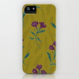 Linear Lily - Mustard iPhone Case