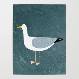 Seagull Standing Poster