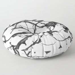 Black neurons Floor Pillow