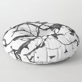 Black neurons Floor Pillow