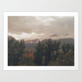 Eagle River Mountain View Art Print